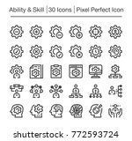 ability and skill pixel perfect ... | Shutterstock .eps vector #772593724