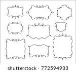 set vector  retro frames ... | Shutterstock .eps vector #772594933