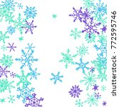 winter pattern with cute doodle ... | Shutterstock .eps vector #772595746