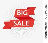 red sale banner concept design  ... | Shutterstock .eps vector #772598203