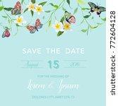 wedding invitation template... | Shutterstock .eps vector #772604128