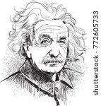 albert einstein portrait in... | Shutterstock .eps vector #772605733