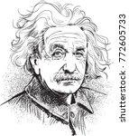 albert einstein  famous... | Shutterstock .eps vector #772605733