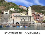 Vernazza Village And Harbor  ...