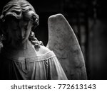 A Sad Winged Angel At An Old...