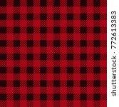 lumberjack plaid seamless... | Shutterstock .eps vector #772613383