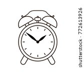 alarm clock symbol on white... | Shutterstock .eps vector #772613926