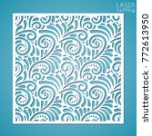 laser cut ornamental panel with ... | Shutterstock .eps vector #772613950