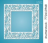 laser cut paper lace frame ... | Shutterstock .eps vector #772613968
