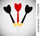 three darts dart. emblem. red... | Shutterstock .eps vector #772620106
