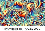 abstract digital fractal... | Shutterstock . vector #772621930