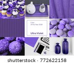 collage with ultra violet color ... | Shutterstock . vector #772622158
