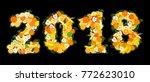 new year 2018 is written in...   Shutterstock .eps vector #772623010