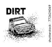 off road suv car logo emblem ... | Shutterstock .eps vector #772624069