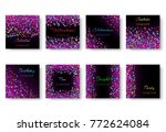 collection of greeting cards...   Shutterstock .eps vector #772624084