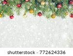 christmas background. selective ... | Shutterstock . vector #772624336