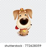 chinese new year  year of dog... | Shutterstock .eps vector #772628359