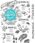 restaurant cafe menu  template... | Shutterstock .eps vector #772631320
