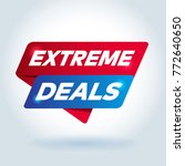 extreme deals arrow tag sign. | Shutterstock .eps vector #772640650
