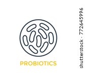 probiotics bacteria linear icon   Shutterstock .eps vector #772645996