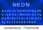 neon city color blue font.... | Shutterstock .eps vector #772651558
