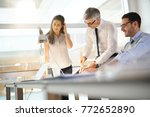 business team working together... | Shutterstock . vector #772652890