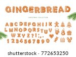 christmas big set. gingerbread... | Shutterstock .eps vector #772653250