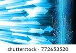 binary circuit board future... | Shutterstock .eps vector #772653520