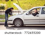 the man wanted to help a young...   Shutterstock . vector #772655200