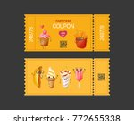 coupon fast food. gift voucher... | Shutterstock .eps vector #772655338