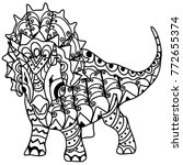 big dinosaur printable vector | Shutterstock .eps vector #772655374