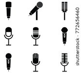 microphone icon set | Shutterstock .eps vector #772656460