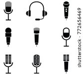 microphone icon set | Shutterstock .eps vector #772656469