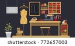 illustration atelier tailoring. ... | Shutterstock .eps vector #772657003