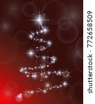 red  festive background with...   Shutterstock .eps vector #772658509