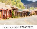 buildings in taos  which is the ... | Shutterstock . vector #772659226