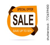 original brown offer sale tag | Shutterstock .eps vector #772659400
