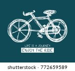 life is a journey  enjoy the... | Shutterstock .eps vector #772659589