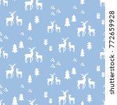scandinavian deers seamless... | Shutterstock .eps vector #772659928