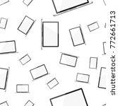 laptop computer seamless...   Shutterstock .eps vector #772661713