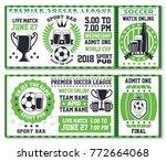 soccer or football sport game... | Shutterstock .eps vector #772664068