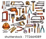 tool for construction and... | Shutterstock .eps vector #772664089