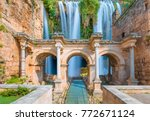 view of hadrian's gate in old... | Shutterstock . vector #772671124