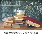 drawing of a start up concept... | Shutterstock . vector #772672000