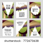 abstract vector layout... | Shutterstock .eps vector #772673638