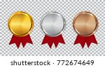 champion gold  silver and... | Shutterstock .eps vector #772674649
