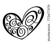 vintage heart for valentines... | Shutterstock .eps vector #772677370