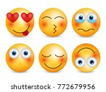 set of emoji. smileys vector... | Shutterstock .eps vector #772679956