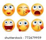 set of emoji. smileys vector... | Shutterstock .eps vector #772679959