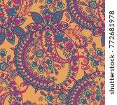 paisley pattern. seamless asian ... | Shutterstock .eps vector #772681978